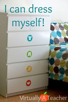 Pas bête de mettre des étiquettes sur les tiroirs pour savoir ce qu'il y a dedans