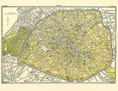 old map of Paris from the 19th Century, a printable map for home decor, scrapbooking, making journals, etc. This is a great site for vintage maps, digital images and antique illustrations #oldmaps #printables #vintagemaps #oldmapofparis #vintageprintablemap #digitalimages