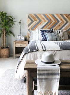 I SPY DIY DESIGN | Bedroom Makeover + DIY Headboard | I Spy DIY | Bloglovin
