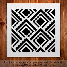 """Geometric pattern small stencil (11"""""""" x 11"""""""")"""