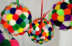 Pom Pom Ornament Craft for Kids! Ornament Crafts, Holiday Ornaments, Holiday Decor, Kids Connection, Old Cards, Holiday Greeting Cards, Craft Stores, Christmas Time, Crafts For Kids