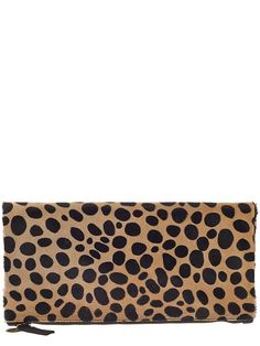 leopard foldover clutch!  swoon!