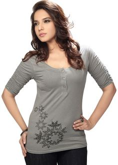 Lovely #PartyWear Grey Color #Tunics