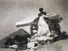 'What courage' (from the series 'Los desastres de la guerra) - Francisco de Goya