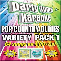 Party Tyme Karaoke  Pop Country Oldies Variety Pack 1 4CDG 64Song Party Pack >>> Check out this great product by click affiliate link Amazon.com