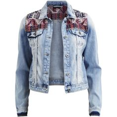 Vila Vimida - Denim Jacket ($84) ❤ liked on Polyvore featuring outerwear, jackets, light blue denim, denim jacket, tall denim jacket, vila, blue jackets and tall jacket