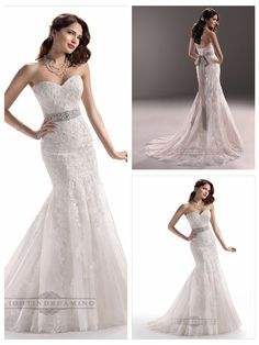 Strapless Sweetheart Mermaid Lace Embroidered Wedding Dresses with   Beaded Belt  #wedding #dresses #dress #lightindream #lightindreaming #wed #clothing   #gown #weddingdresses #dressesonline #dressonline #bride  http://www.ckdress.com/strapless-sweetheart-mermaid-lace-embroidered-  wedding-dresses-with-beaded-belt-p-156.html