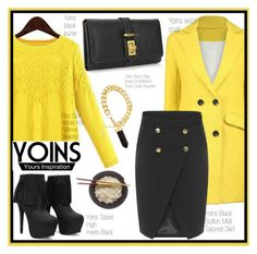 """""""YOINS in Yellow"""" by din-fashion ❤ liked on Polyvore"""