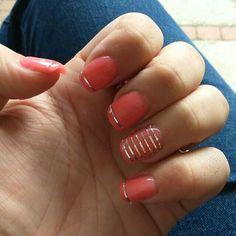 #nails #silver #koraal