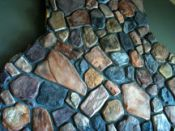 Kits to make manufactured cultured stone and veneer rocks for home improvement projects.
