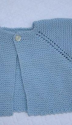 Com - Diy Crafts - Hadido - Diy Crafts Easy Baby Knitting Patterns, Baby Cardigan Knitting Pattern Free, Cardigan Pattern, Diy Crochet Cardigan, Knitted Baby Cardigan, Brei Baby, Knit Baby Dress, Baby Sweaters, Crochet Baby