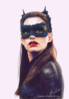 Anne Hathaway as Catwoman_Digital Art by Feyjane.deviantart.com on @deviantART