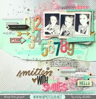 Hip Kit Club DT layout for National Scrapbooking Day - by Missy Whidden - using acrylic paints & 2015 April Hip Kits - American Crafts with a few pieces from Freckled Fawn & Elle's Studio
