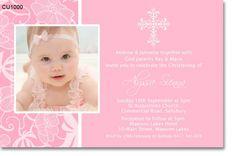 www.invitations2impress.com CU1000 - Pink Lace Christening Invitation Christening Invitations Girl, Girl Christening, Lake Hotel, Pink Lace, Rsvp, Girls, Birthdays, Reception, Happy Birthday