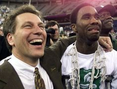 Mateen Cleaves and Tom Izzo National Champions