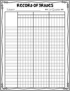 How to fill out a teacher grade book