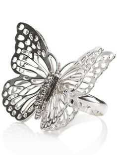 filigree butterfly ring by Accessorize.  I have this ring, but it has oxidised as it's only silver plate-I am currently looking for a special piece of butterfly jewellery