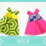 Vestido niña en origami