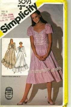 gunny sax patterns | Gunne Sax sewing pattern | Sewing