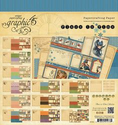 Graphic 45 A PLACE IN TIME 12x12 Decorative Scrapbook Papercrafting Paper RARE #Graphic45