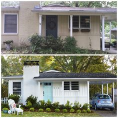 Home Remodeling Outdoor before and after curb appeal photos - Inspirational before and after landscaping and exterior home renovation photos. Home Exterior Makeover, Exterior Remodel, Home Renovation, Home Remodeling, Exterior Renovation Before And After, Kitchen Renovations, Exterior Design, Interior And Exterior, Exterior Paint