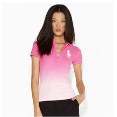 3163c57168 2013 New Polo Ralph Lauren white big pony long placket cotton mesh polo  shirts for women