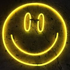 Neon Yellow Smiley by Andy Doig Yellow Aesthetic Pastel, Orange Aesthetic, Rainbow Aesthetic, Aesthetic Colors, Aesthetic Collage, Aesthetic Pictures, Aesthetic Drawings, Aesthetic Light, Aesthetic Clothes