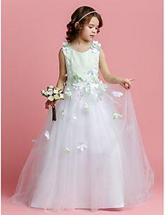 A-line+Sweep+/+Pinsel+Zug+Blume+Mädchen+Kleid+-+Tüll+ärmellosen+Juwel+Hals+von+lan+ting+bride+®+–+EUR+€+174.32