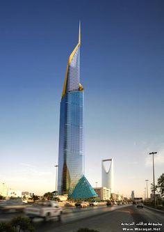 الأبراج الضخمة القادمة بالرياض : برج فندق الريتز + برج الفيصلية 2 + برج داماك - مجموعة ورقات Riyadh Saudi Arabia, Unique Hotels, Architect House, Burj Khalifa, Willis Tower, Signage, Facade, Skyscraper, Multi Story Building