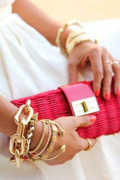 arm candy and gorgeous clutch