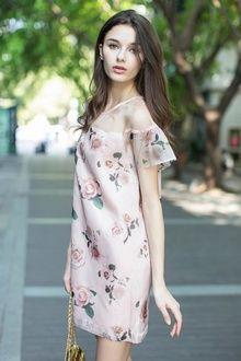 Rose Mesh Dress