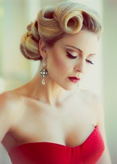 Messy Retro Updo Hairstyle