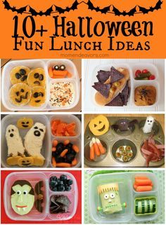 10+ Fun & easy Halloween lunch ideas for kids via momendeavors.com. #Halloween