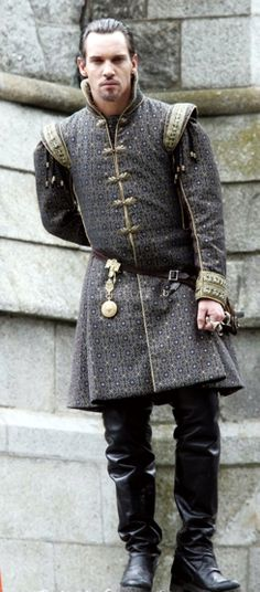 King Henry VIII of England portrayed by Irish actor Jonathan Rhys Meyers --- The Tudors -- an Irish-Canadian historical fiction television series set primarily in sixteenth-century England, created by Michael Hirst for Showtime cable.