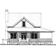 floorplan for the pocotaligo 1837 square foot house plan - Farmhouse Plans 2000 Square Foot
