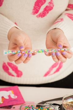 HOW TO MAKE DIY CONFETTI STIX | Best Friends For Frosting