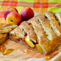 Shortcut Summer Peach Strudel - an easy summer dessert idea using fresh peaches at their best and ready to use, frozen puff pastry.