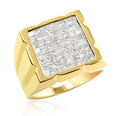 Gold Rings for Men | invisibly-set-princess-cut-diamond-ring-for-men-233ct-14k-gold_1