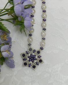Collar de Swarovski cuentas SuperDuo joyería SuperDuo joyas