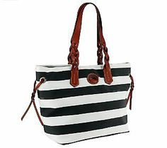 Dooney & Bourke Rugby Nylon Striped Shopper