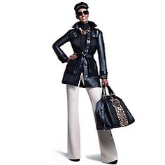 IMAN Platinum Collection: Leather & Suede Trench Coat