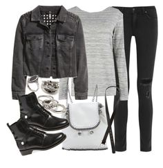 """""""Untitled #18342"""" by florencia95 ❤ liked on Polyvore featuring rag & bone, Boohoo, H&M, STELLA McCARTNEY, Forever 21, Fendi and ASOS"""