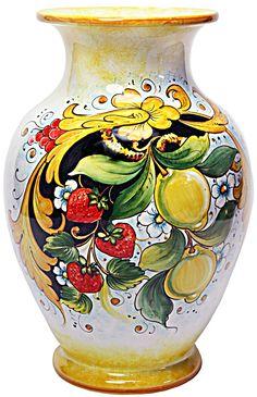 majolica-ceramic-vase-strawberries-lemons-flowers-35cm-01