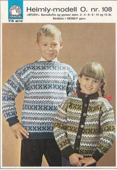 Spurv 108 Baby Barn, Grandkids, Christmas Sweaters, Knit Crochet, Men Sweater, Guys, Knitting, Handmade, Vintage