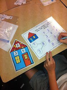 First Grade Facts: Fact Families - Math Ideas - Second Grade Math, First Grade Classroom, Math Classroom, Classroom Ideas, Grade 1, Math Stations, Math Centers, Math Resources, Math Activities