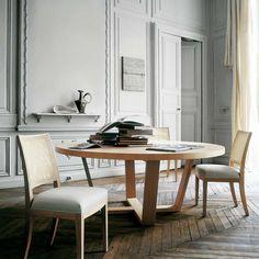 stół do jadalni, okrągły, drewniany