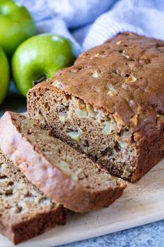 Moist Cinnamon Apple Bread is made with applesauce for even more delicious apple flavor. This easy quick bread is ready for the oven in 10 minutes!