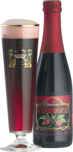 Lindemans Lambic Framboise Raspberry Belgian Beer Delicious and other trending products for sale at competitive prices. All Beer, Wine And Beer, Best Beer, Beer Brewing, Home Brewing, Tequila, Vodka, Beer Glassware, Belgian Beer