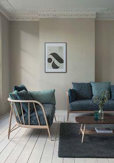 51 living room interior ideas - white floorboards