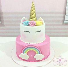 H - [board_name] - Kuchen Bolo Tumblr, Bolo Fack, Unicorn Themed Birthday Party, 5th Birthday, Birthday Cakes, Savoury Cake, Cute Cakes, Cake Designs, Amazing Cakes